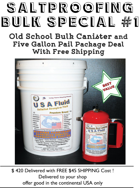 USA Fluid 5 Gallon and Canister special combo deal..