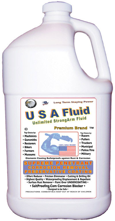 USA Fluid Gallon Bulk Container Saltproofing Supply and Usage.